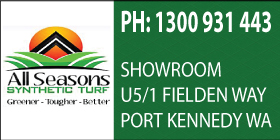 *All Seasons Synthetic Turf - Artificial Grass Port Kennedy, Rocjkingham - Ph 1300 931 443