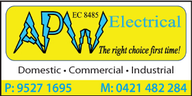 APW ELECTRICAL YOUR LOCAL BORE ELECTRICIAN - OPERATING BUSINESS WITH ALL PRECAUTIONS - EMERGENCY CALL OUTS - CASHLESS PAYMENTS AVAILABLE