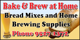 *Bake & Brew at Home - Phone 9527 1372 - Brewing Rockingham