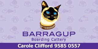 "*Barragup Boarding Cattery - Phone <a href=""tel:95850557"">9585 0557</a> - Boarding Cattery Barragup Pinjarra"