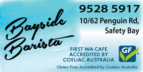 BAYSIDE BARISTA 👌 MULTI AWARD WINNING CAFE - DINE-IN OR TAKEAWAYS - GLUTEN FREE - COELIAC ACCREDITED CAFE GOLD PLATE WINNERS