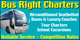 *Bus Right Charters - Phone 9537 1080 - Bus and Coach Charters Golden Bay Rockingham