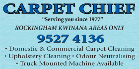 *Carpet Chief - Phone 9527 4136