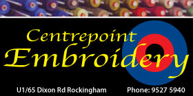 *Centrepoint Embroidery - Embroidery Rockingham