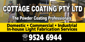 *Cottage Coating Pty Ltd - Phone 9524 6944 - Powder Coating Port Kennedy Rockingham