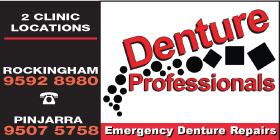 *Denture Professionals Rockingham - Denture Clinics Rockingham - Phone 9592 8980