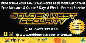 *GOLDEN WEST SECURITY - WIN A TRIP FOR 2 TO BALI - AFTERPAY - ZIP PAY - HUMM FINANCE AVAILABLE OUTDOOR BLINDS SLIDETRACK