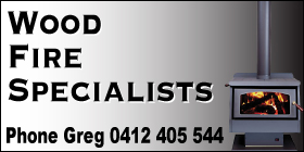 *Greg Hounslow  Wood Fire Specialist - Phone 0412 405 544 - Flue Cleaning Rockingham