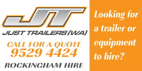 *Just Trailers WA - Phone 9529 4424 - Hire Services and Equipment Rockingham