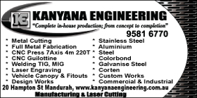 *Kanyana Engineering Pty Ltd - Ph 9581 6770 - 4WD Parts and Accessories Mandurah