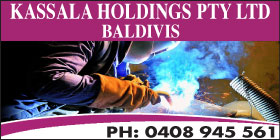 *Kassala Holdings Pty Ltd - Phone 0408 945 561 - Welding Baldivis Rockingham