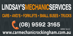 *Lindsay's Mechanic Services - 4WD Service and Repairs Rockingham - Phone 9592 3165