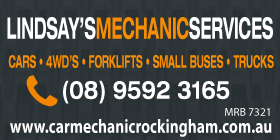 "*Lindsay's Mechanic Services - Phone <a href=""tel:95923165"">9592 3165</a> - 4WD Service and Repairs Rockingham"