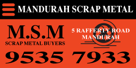 *Mandurah Scrap Metal (Gemos) - Phone 9535 7933 - Scrap Metal Mandurah