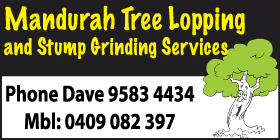 *Mandurah Tree Lopping - Stump Grinding Mandurah - Phone 9583 4434