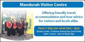 "*Mandurah Visitor Centre - Phone <a href=""tel:95503999"">9550 3999</a> - Travel Agents Mandurah"