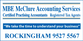 "*MBE McClure Accounting Services - Phone <a href=""tel:95275567"">9527 5567</a> - Taxation Rockingham"