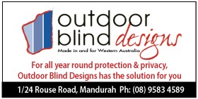 *Outdoor Blind Designs - Phone 9583 4589 - Outdoor Blinds Mandurah