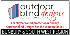 *Outdoor Blind Designs -  Bunbury DESIGNED & MANUFACTURED IN WA -  SEE OUR MONTHLY SPECIALS - 35% OFF