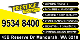 *Prestige Products - Mandurah Catering Products -  Phone 9534 8400