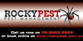 *Rockypest Pest Management - Pest Control Rockingham Mandurah GIVING YOU PEACE OF MIND