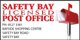 "*Safety Bay Licensed Post Office - Phone <a href=""tel:95273381"">9527 3381</a> - Banking and Bill Paying Safety Bay"
