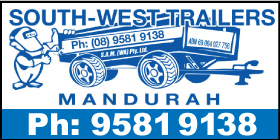*South West Trailers - Phone 9581 9138 - Boat Trailer Sales and Repairs Mandurah