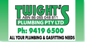 *Twight's Plumbing Pty Ltd - Gas Services Rockingham