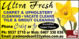 *Ultra Fresh Carpet and Upholstery Cleaning - Phone 9537 2710 - Carpet Cleaning Golden Bay