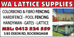 *WA Lattice Supplies - Phone 0413 524 559 - HANDYMAN SERVICES.