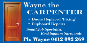 *WAYNE THE CARPENTER - Door Installations Shoalwater Rockingham