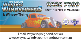 "*AAA Windscreens & Tinting - Phone <a href=""tel:9527 7333"">9527 7333</a> - Marine Glass and Tinting Rockingham"