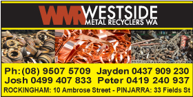 *Westside Metal Recyclers WA - Scrap Metal Rockingham