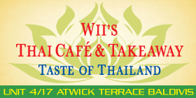 *Wii's Thai Cafe and Takeaway - Phone 9523-6279 - Baldivis Cafe Restaurant Rockingham